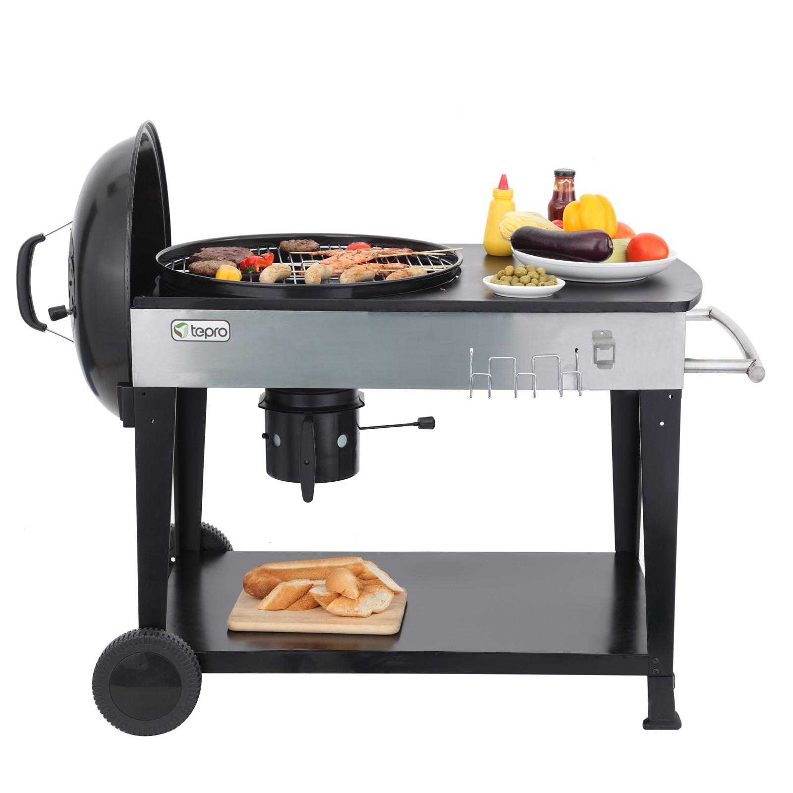 tepro 1102 holzkohlegrill kugelgrill grillwagen barbecue bbq kohlegrill belmont ebay. Black Bedroom Furniture Sets. Home Design Ideas