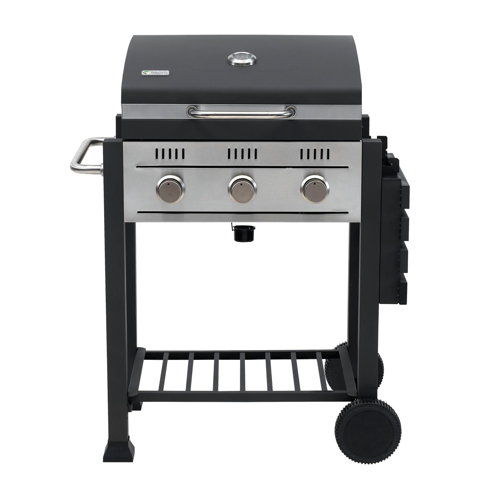 tepro gasgrill grillwagen barbecue gasgrillwagen toronto mit 3 edelstahl brenner ebay. Black Bedroom Furniture Sets. Home Design Ideas