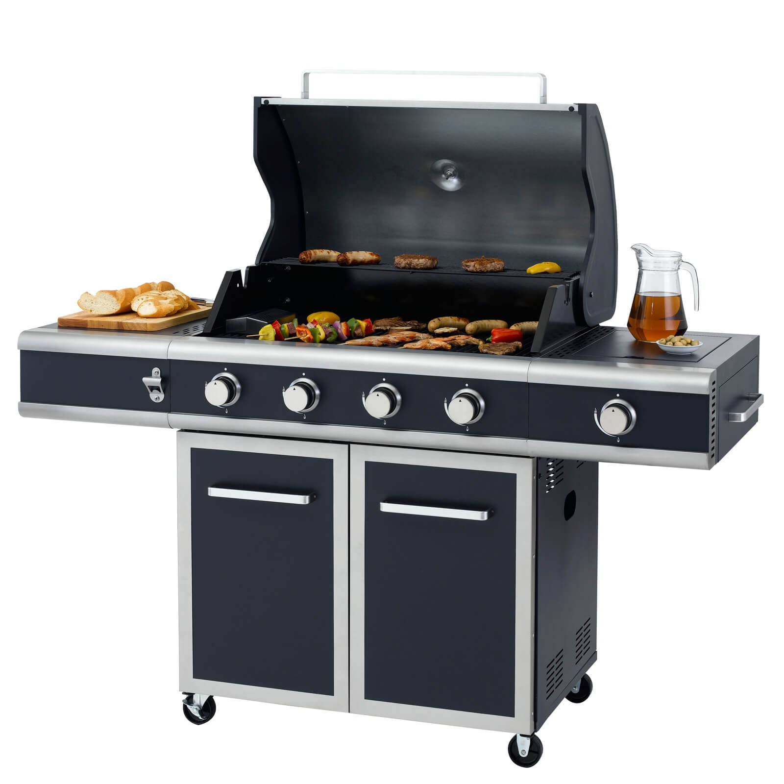 Tepro Gasgrill BBQ Grillwagen 4 Edelstahl Brenner Gas Barbecue Grill Vancouver 3175