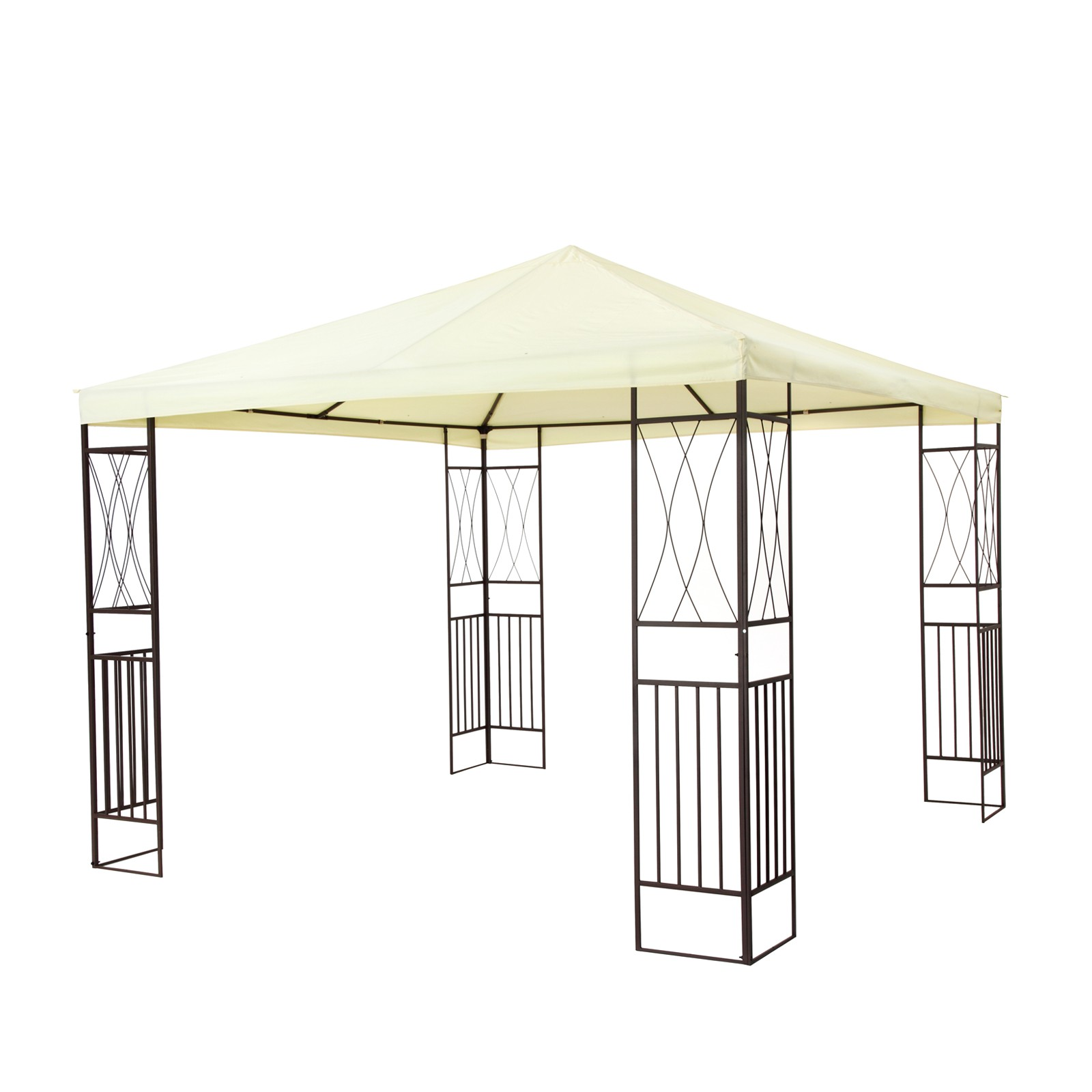tepro garten pavillon gartenpavillon 3x3 m gartenzelt partyzelt kaemi creme ebay. Black Bedroom Furniture Sets. Home Design Ideas