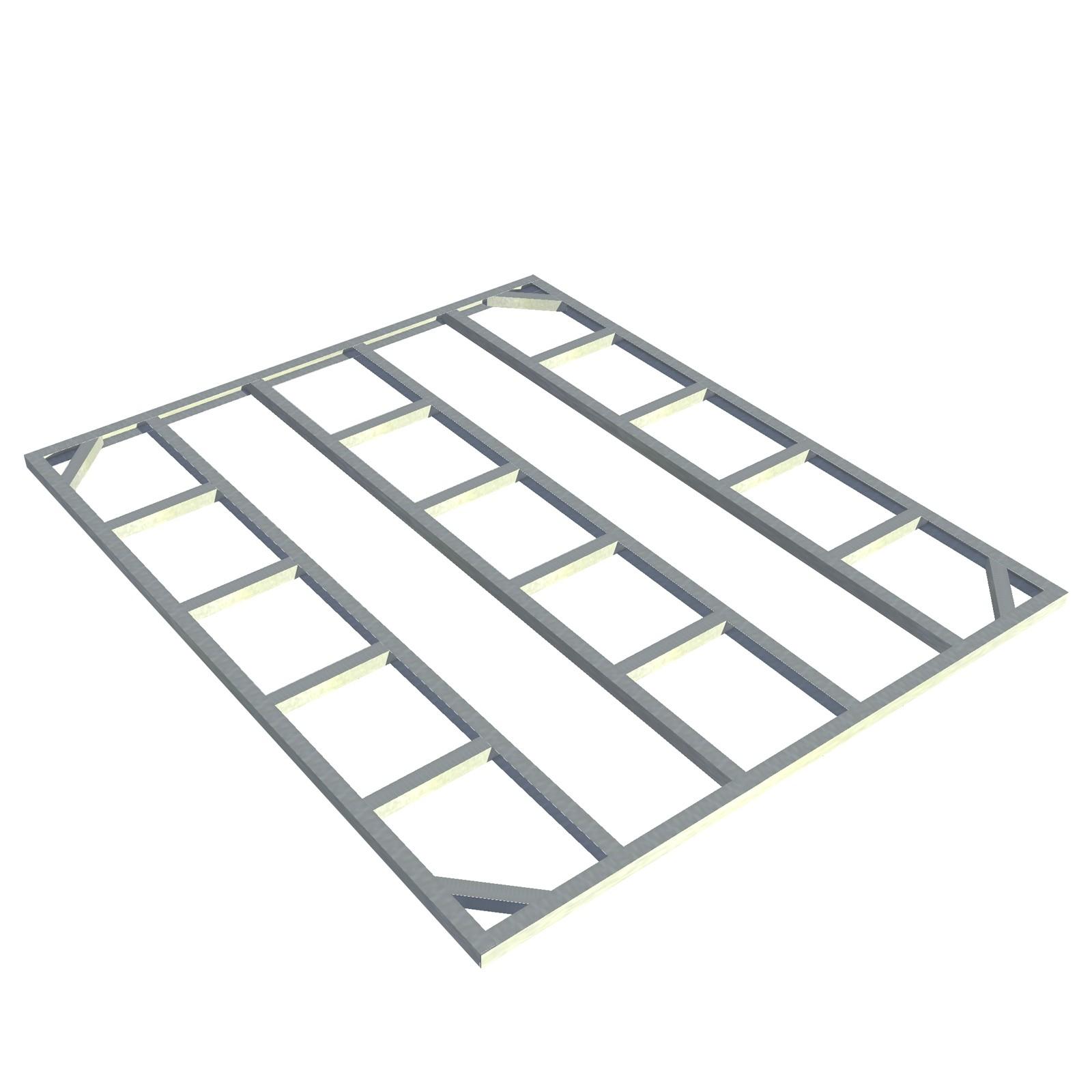 tepro metall unterkonstruktion fundament f r gartenhaus ger tehaus titan 8x6 ebay. Black Bedroom Furniture Sets. Home Design Ideas