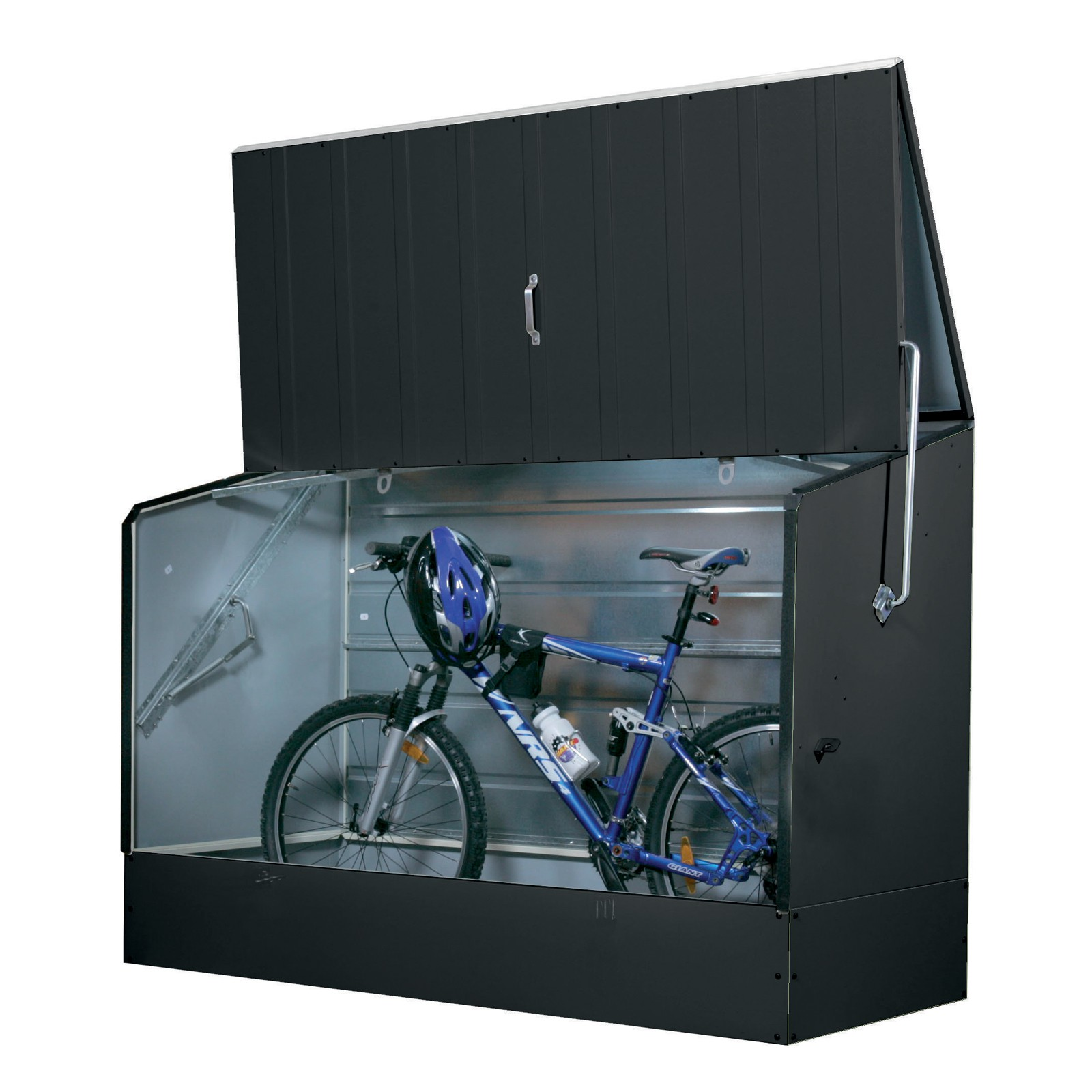 tepro metall fahrradbox fahrradgarage anthrazit. Black Bedroom Furniture Sets. Home Design Ideas