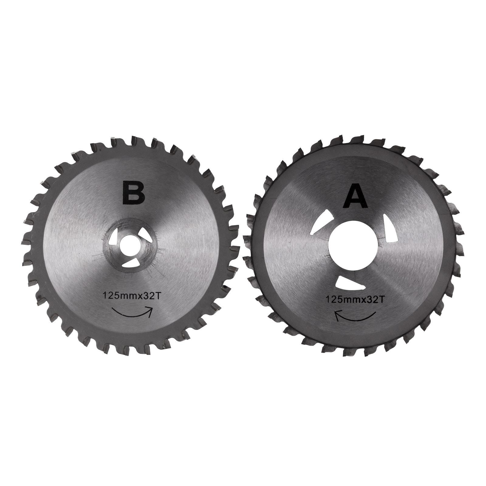 Dema Sägeblätter 2 Stück für Handkreissäge mit Doppelblatt DDS125 ZA18620
