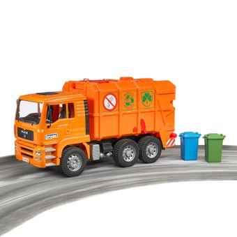 Bruder MAN TGA Müll-LKW / Müllabfuhr orange – Bild $_i