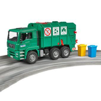 Bruder MAN TGA Müll-LKW / Müllabfuhr grün – Bild $_i