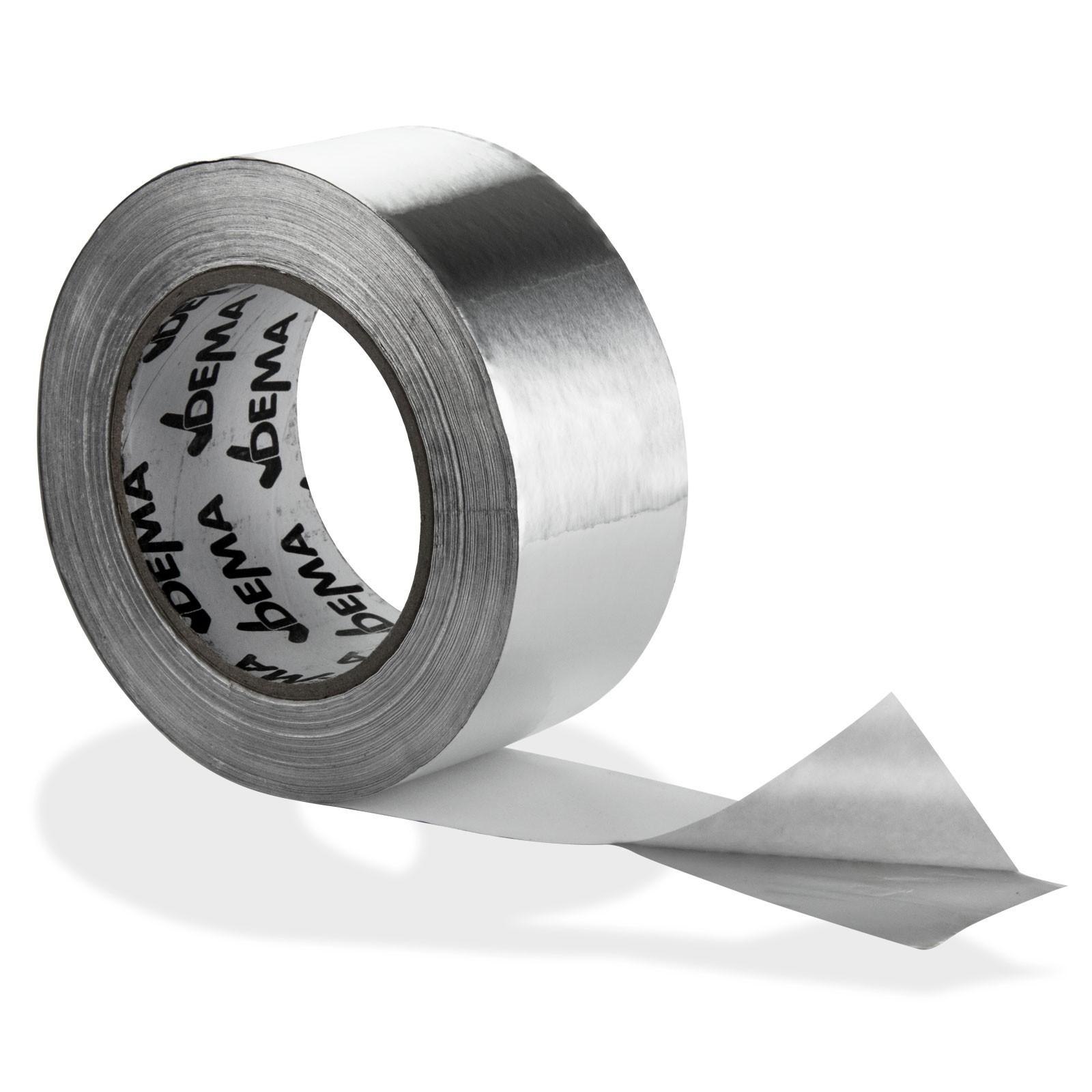 Dema Aluminium Rolle Alu Klebeband Aluband 50 mm x 50 m Band Isolierung Dampfsperre 80363