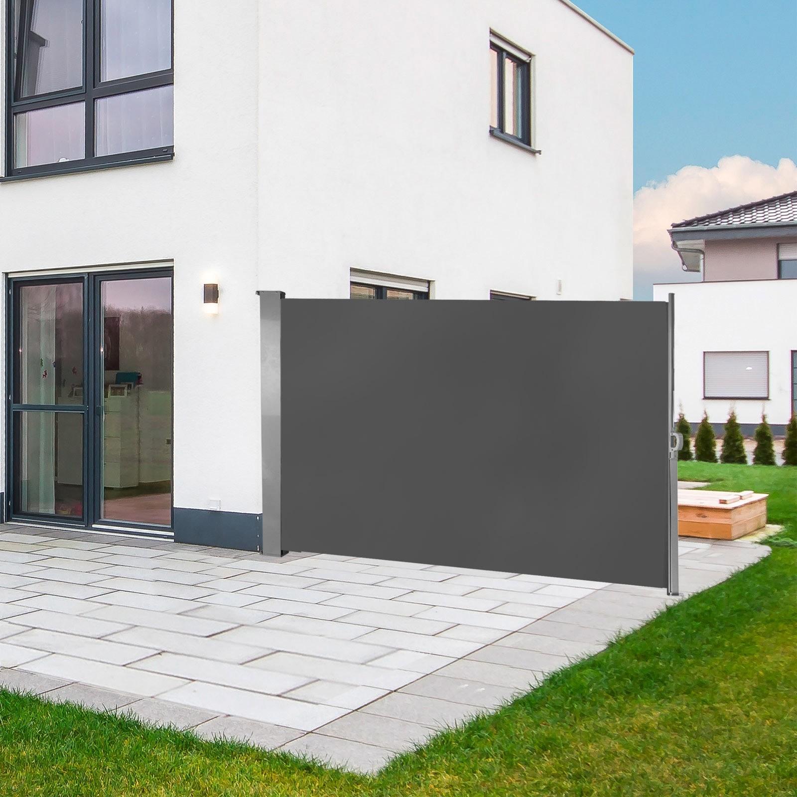 Dema Seitenwandmarkise Seitenmarkise Sichtschutz Windschutz 160 x 300 cm Anthrazit 41291
