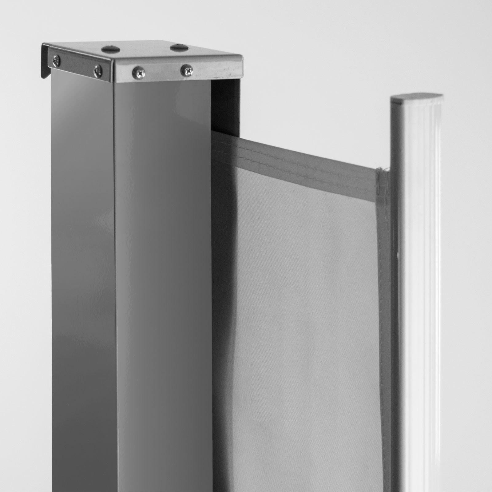 Seitenmarkise Markise Sichtschutzwand Sichtschutz Terrasse 180x300 cm grau