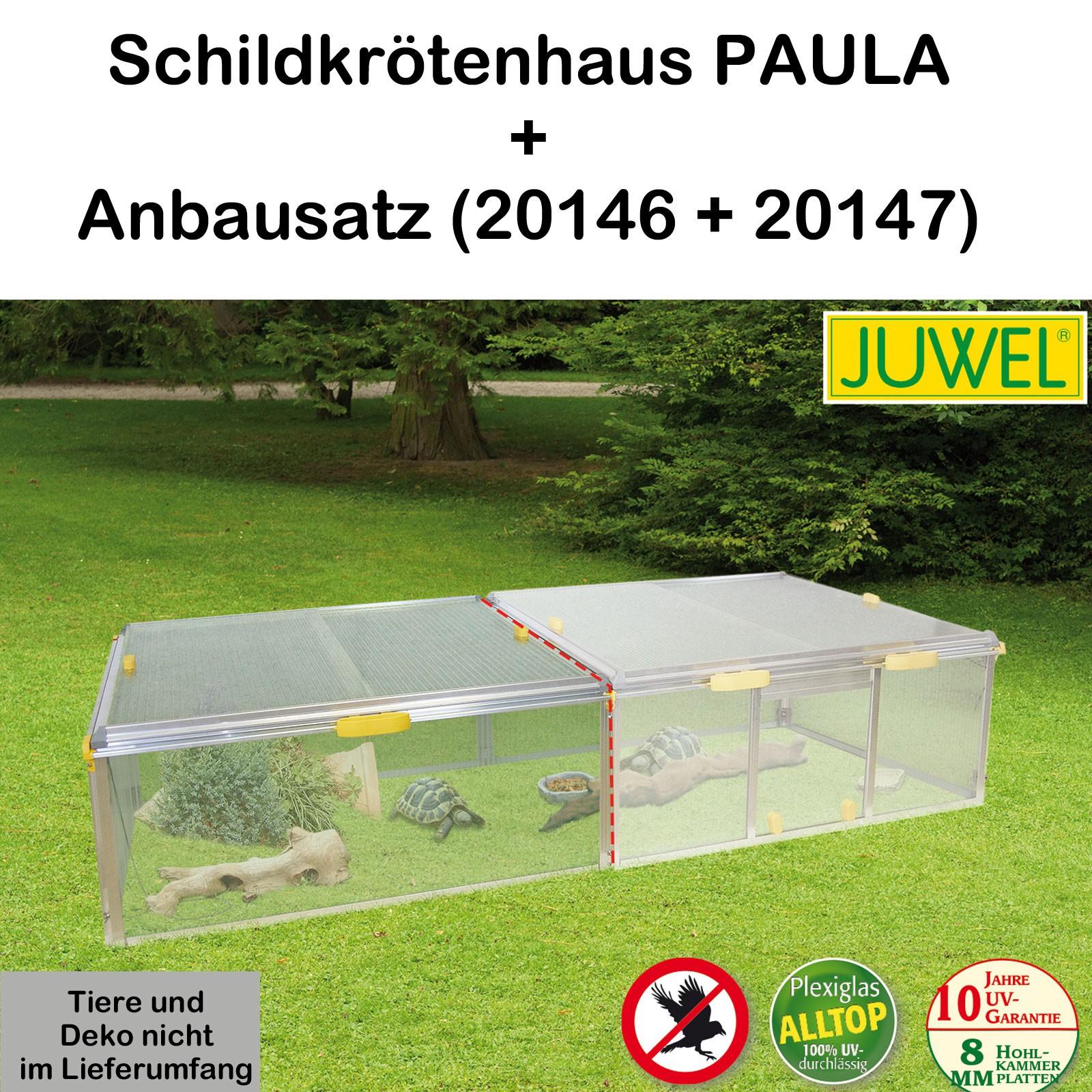 Juwel Schildkrötenhaus PAULA m./o. Zubehör Anbausatz Freigehege 20146+20147