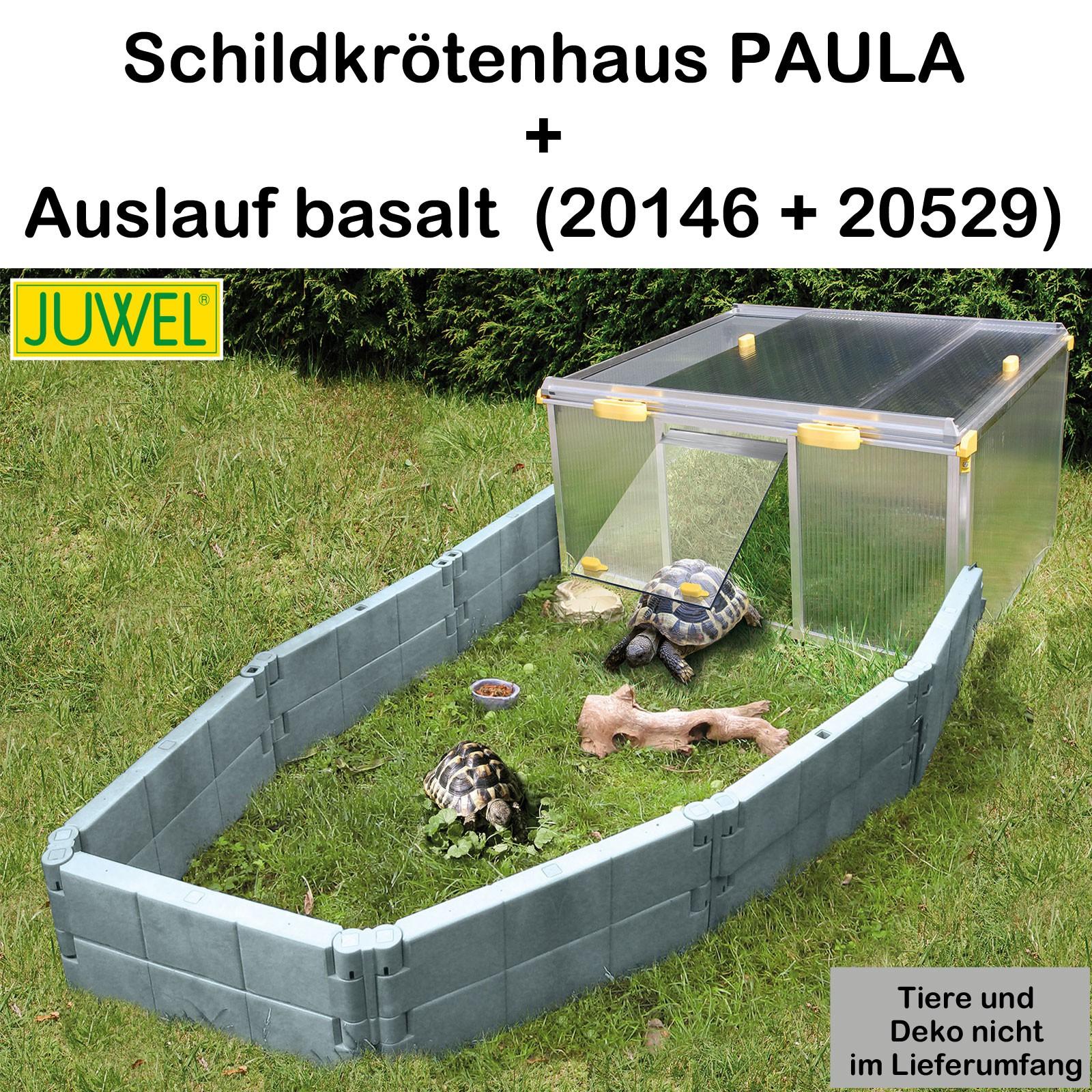 Juwel Schildkrötenhaus PAULA m./o. Zubehör Anbausatz Freigehege var-juwel-paula