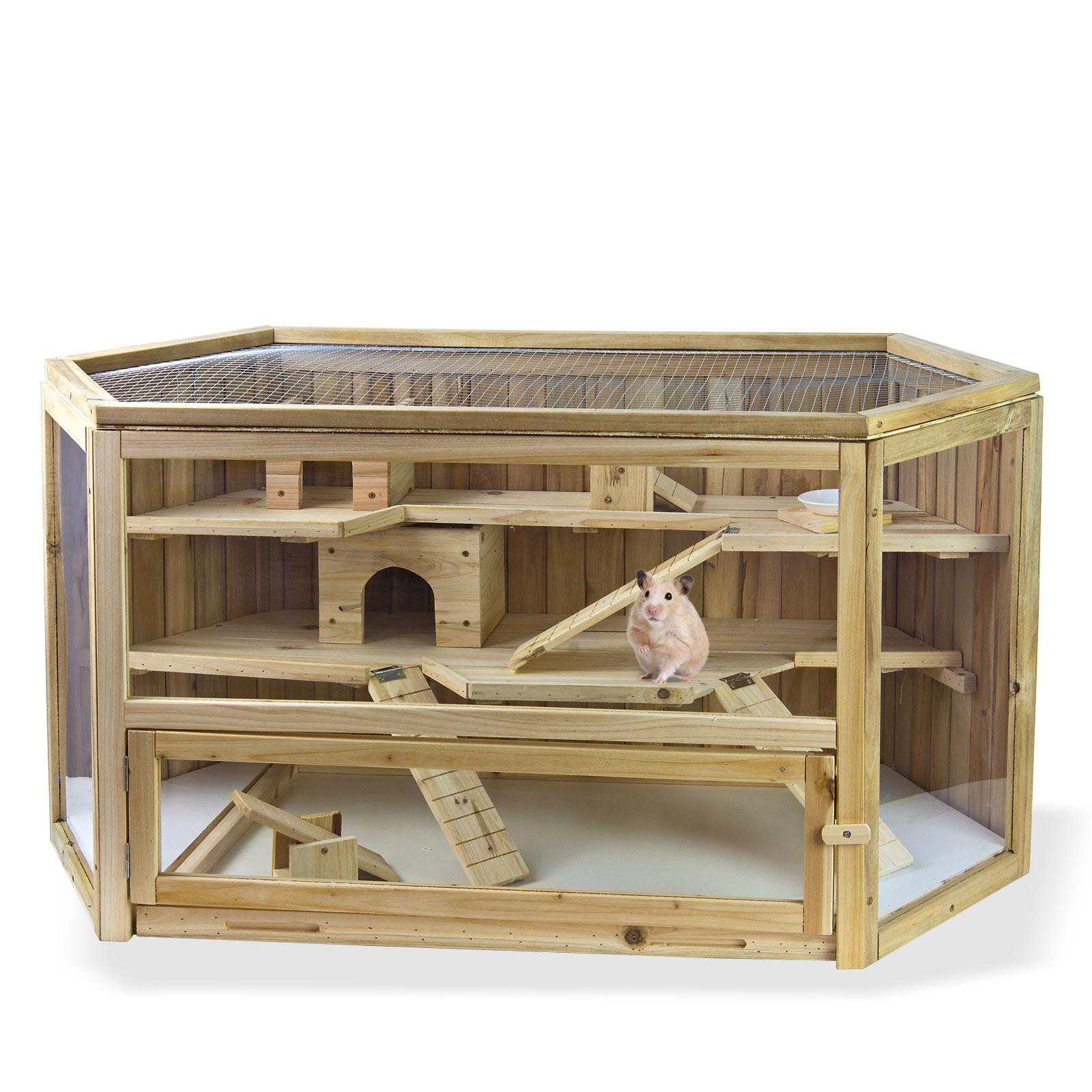 Dema Kleintiergehege / Kleintierstall Lausitz aus Holz 117x62x58 cm 41600
