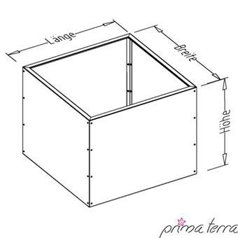 """Prima terra Metall Hochbeet Edelrost """"Unique"""" Höhe 78 cm - Auswahl – Bild $_i"""