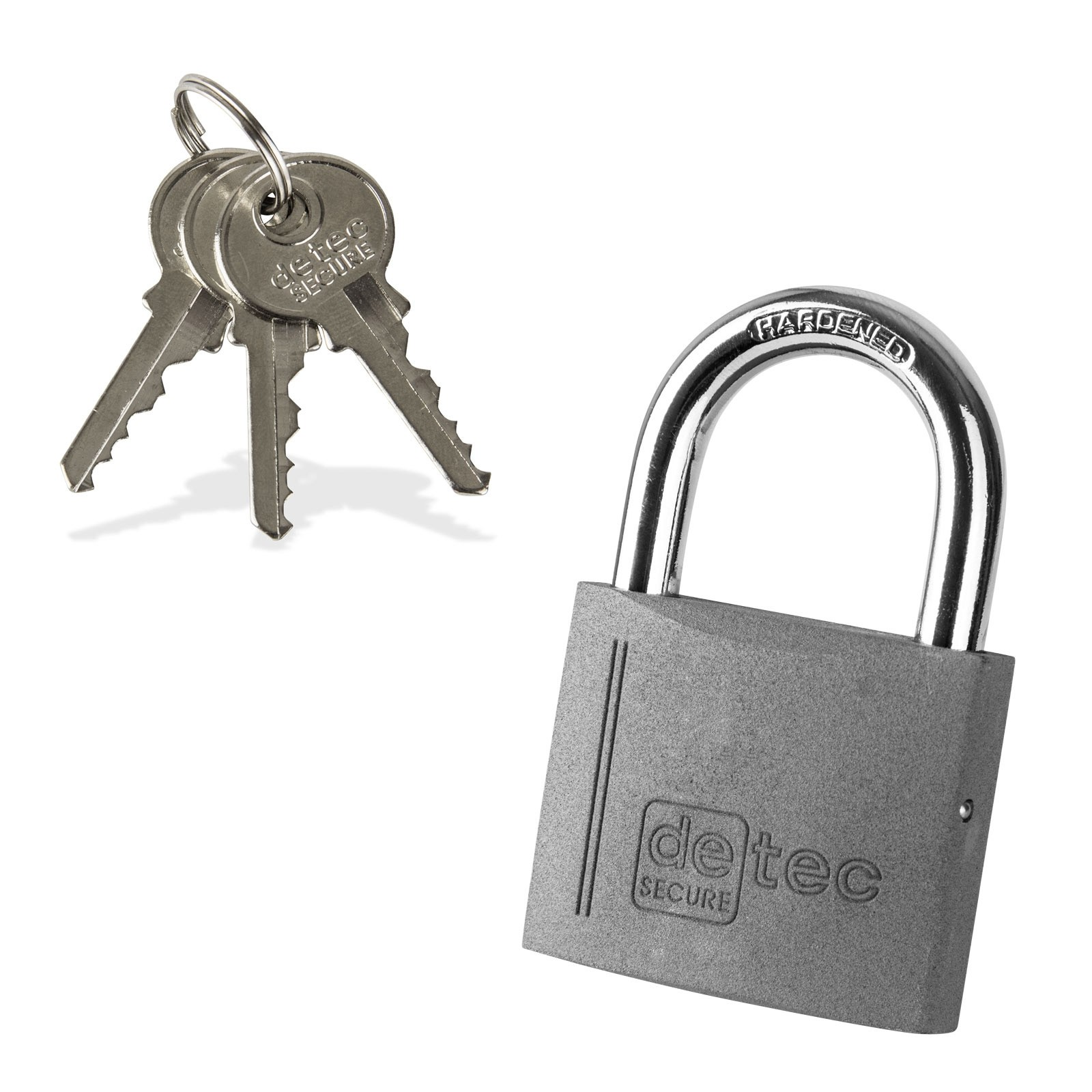 Dema Vorhängeschloss / Bügelschloss / Sicherheitsschloss VS40 mit 3 Schlüssel 21672