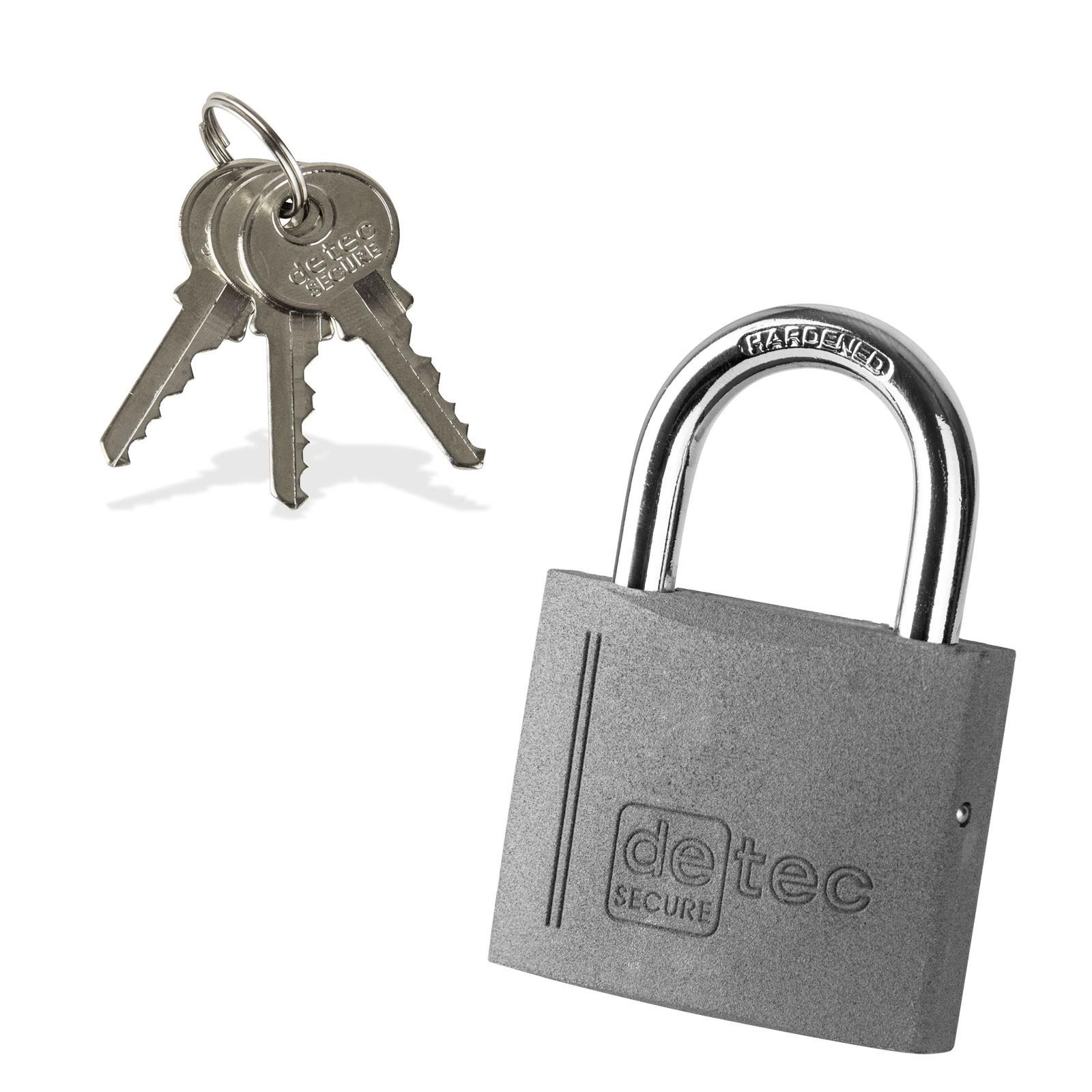 Dema Vorhängeschloss / Bügelschloss / Sicherheitsschloss VS50 mit 3 Schlüssel 21673
