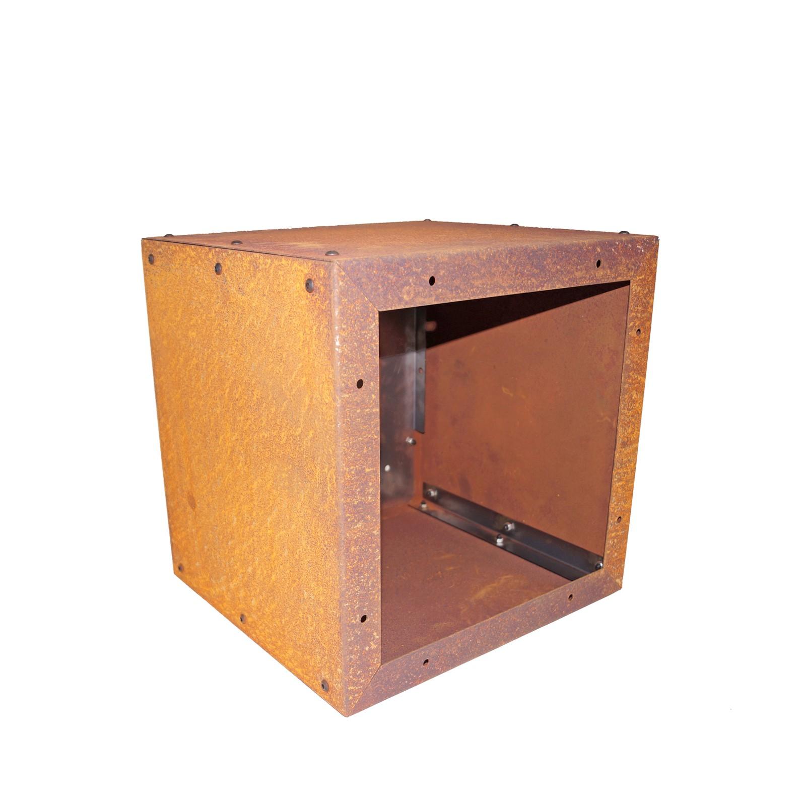 Prima terra Regal Gartenregal Edelrost Infinita 38x38x35 cm Metall Geräteschrank S3003211