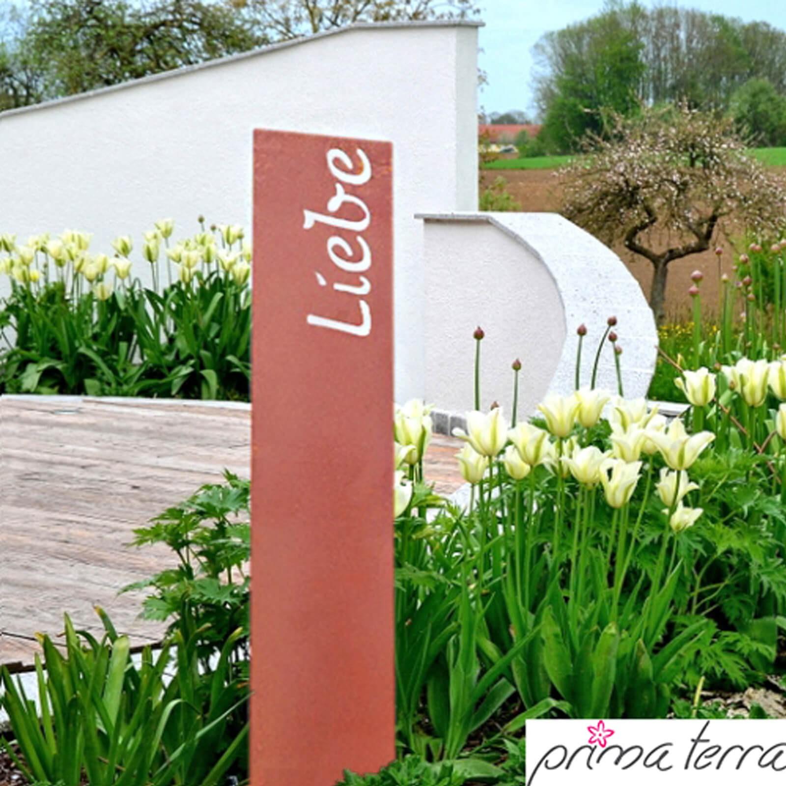 gartendekoration edelrost, prima terra edelrost gartenstele gartendeko liebe, Design ideen