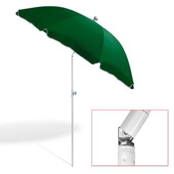 Strandschirm grün 180 cm UV30 Sonnenschirm Gartenschirm Schirm – Bild $_i