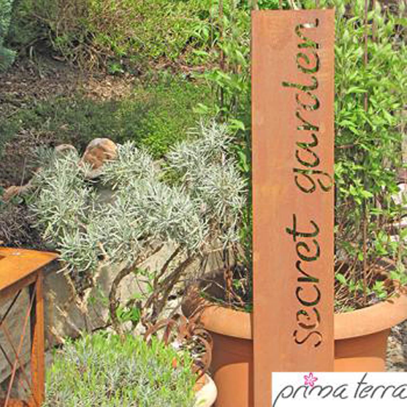 Prima terra edelrost gartendekoration secret garden for Terracotta gartendekoration