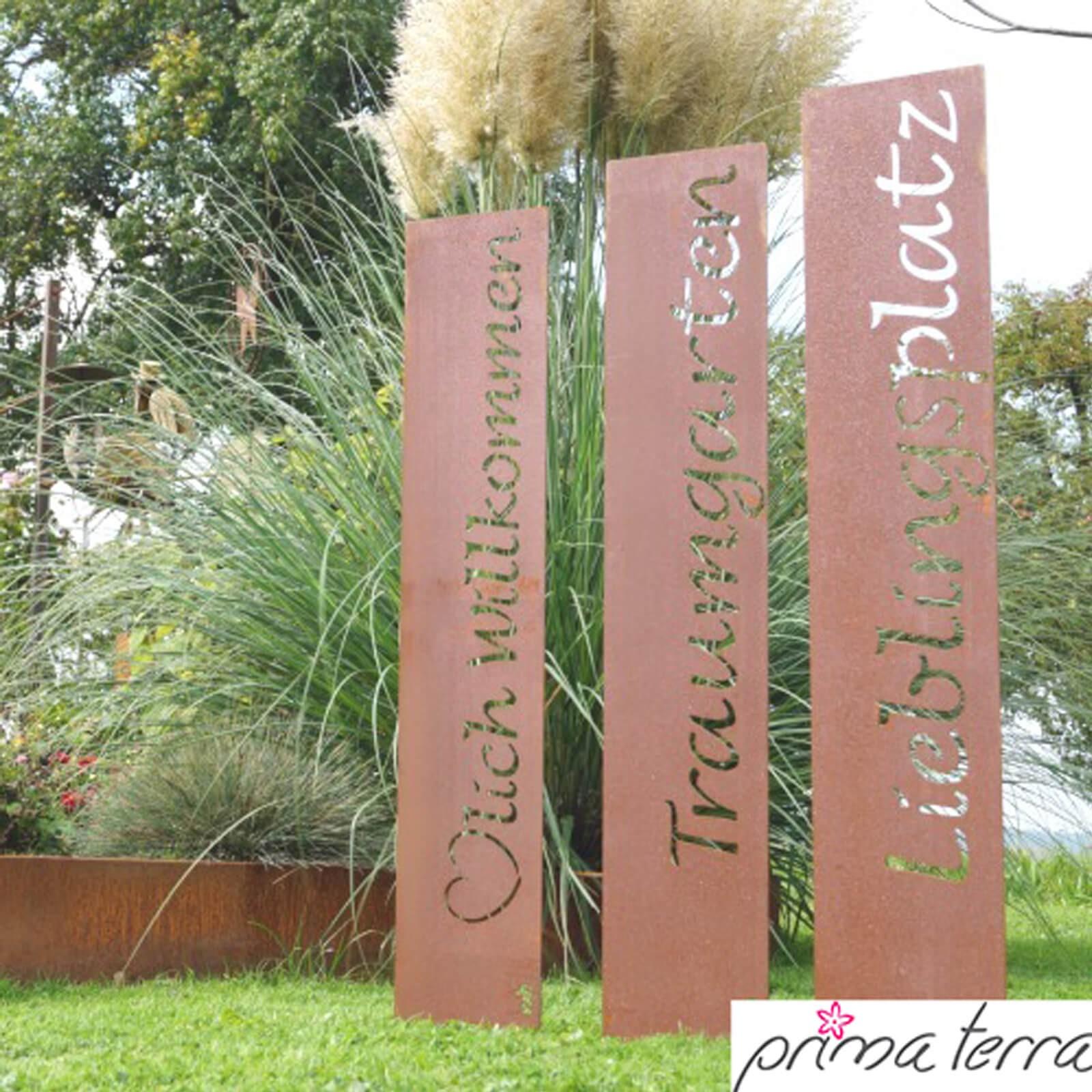 gartendekoration edelrost, prima terra edelrost gartendekoration green fingers, Design ideen