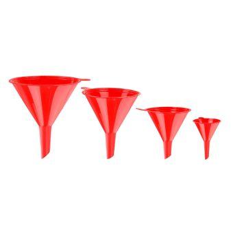 Kunststoff Trichter Set 4 tlg. Rot/orange Einfülltrichter – Bild $_i