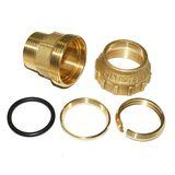 PE Verschraubung Messing Übergangsstück 20 - 40 mm AG / IG