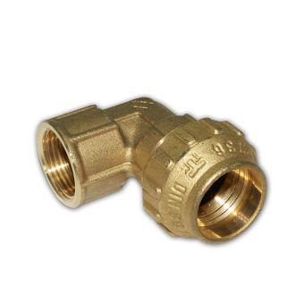 PE Rohr Verschraubung Messing Winkel 20 - 40 mm AG / IG – Bild $_i