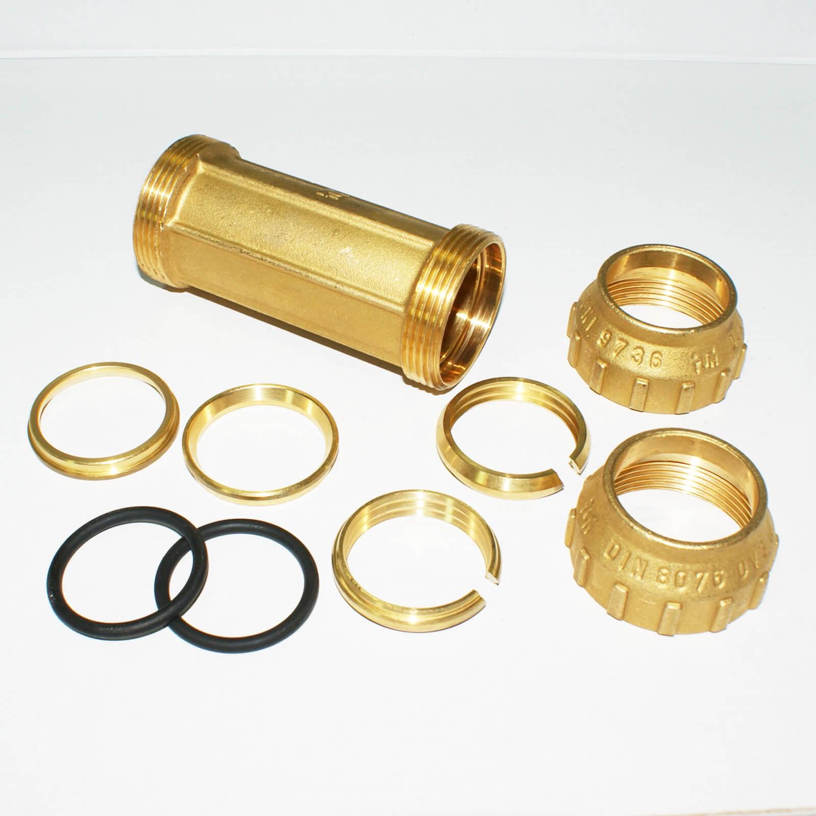 Bevorzugt PE Rohr Verschraubung Messing Reparaturmuffe Ø 32 mm KO58