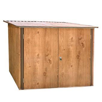 Metall Fahrradgarage / Fahrradbox Holz-Dekor Eiche – Bild $_i