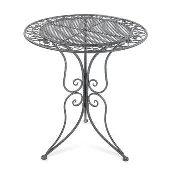 Gartentisch Provence Antik, Metall, grau 60x70 cm – Bild $_i