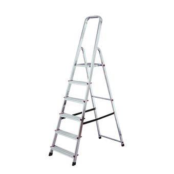 Krause Corda Stehleiter Haushaltsleiter Stufenleiter 6 Stufen Leiter einseitig – Bild $_i