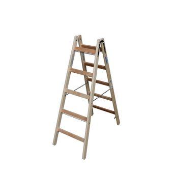Krause Stabilo Holz Doppelleiter 2x4 - 2x12 Sprossen – Bild $_i