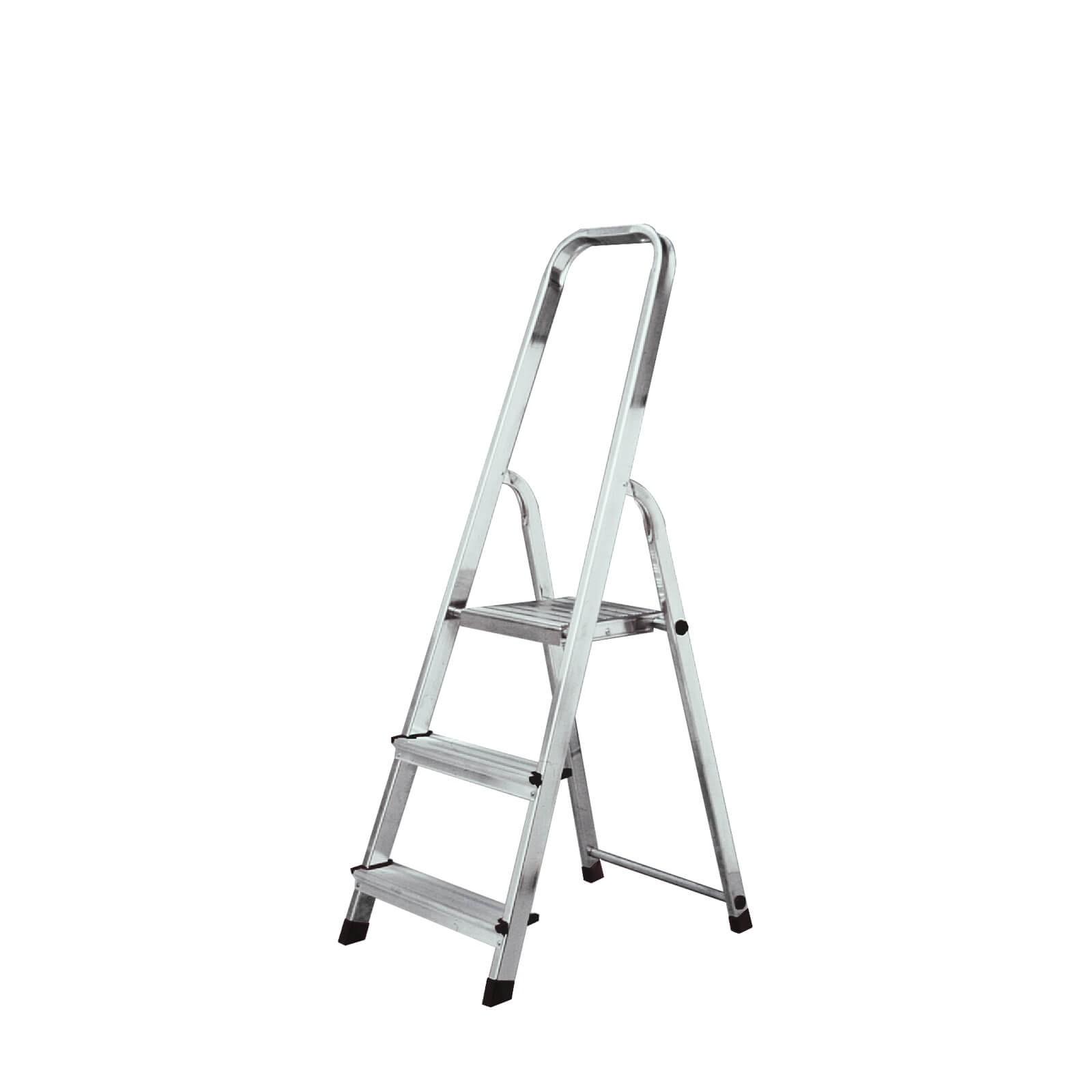 krause corda alu trittleiter stehleiter 3 6 stufen klapptritt leiter einseitig ebay