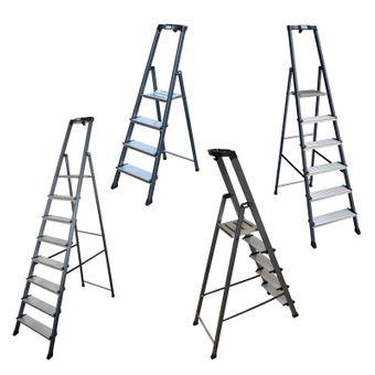 Krause Securo Alu Stehleiter 4 - 8 Stufen eloxiert – Bild $_i