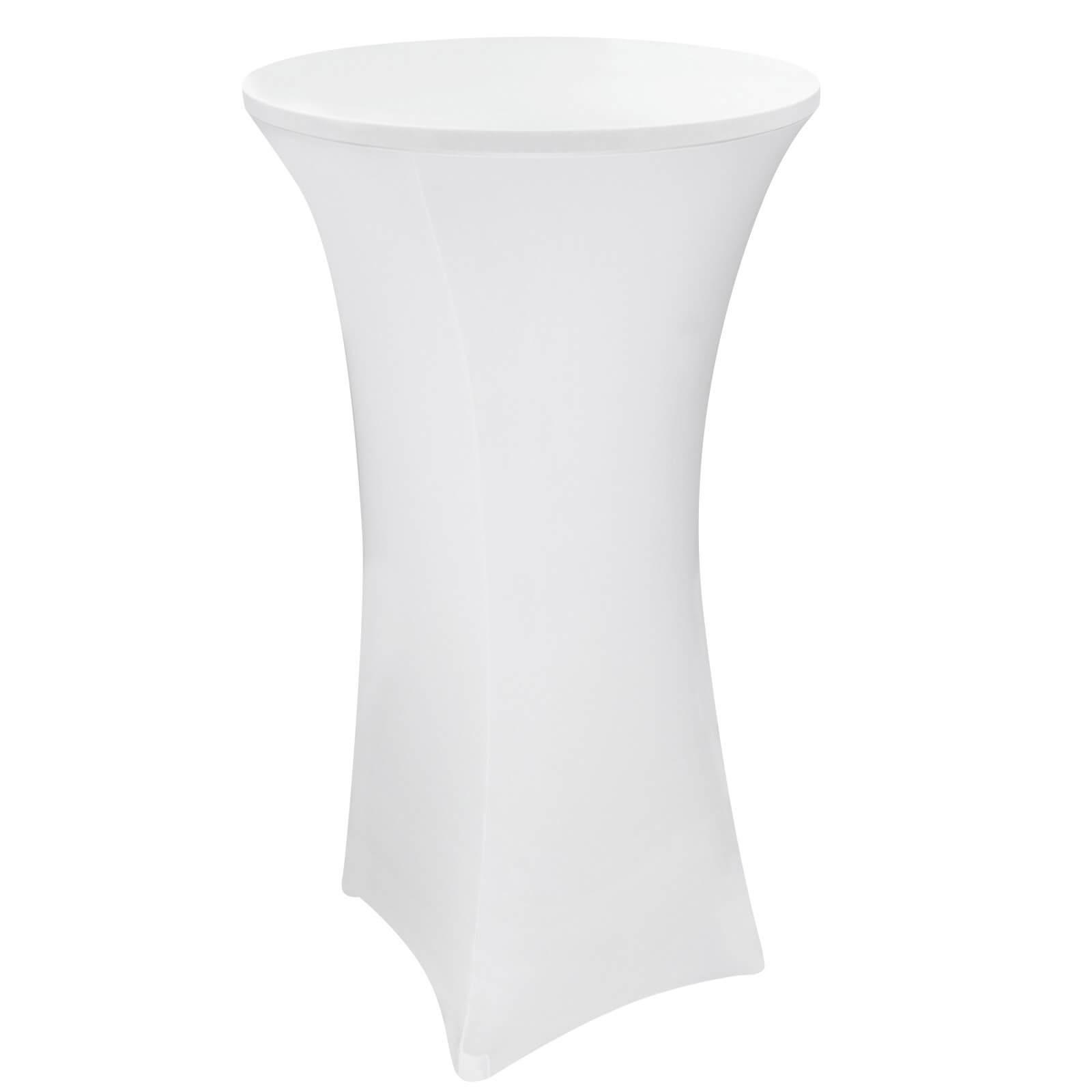 Dema Stehtischhusse 80x120 cm weiß Stretch Stehtisch Bistrotisch Husse 14134