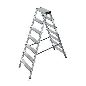 Krause Doppelleiter Stehleiter 2x3 - 2x8 Stufen Dopplo – Bild $_i