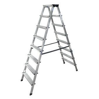 Krause Doppelleiter Stehleiter Dopplo Trittleiter 2x3 - 2x8 Stufen Stufenleiter – Bild $_i