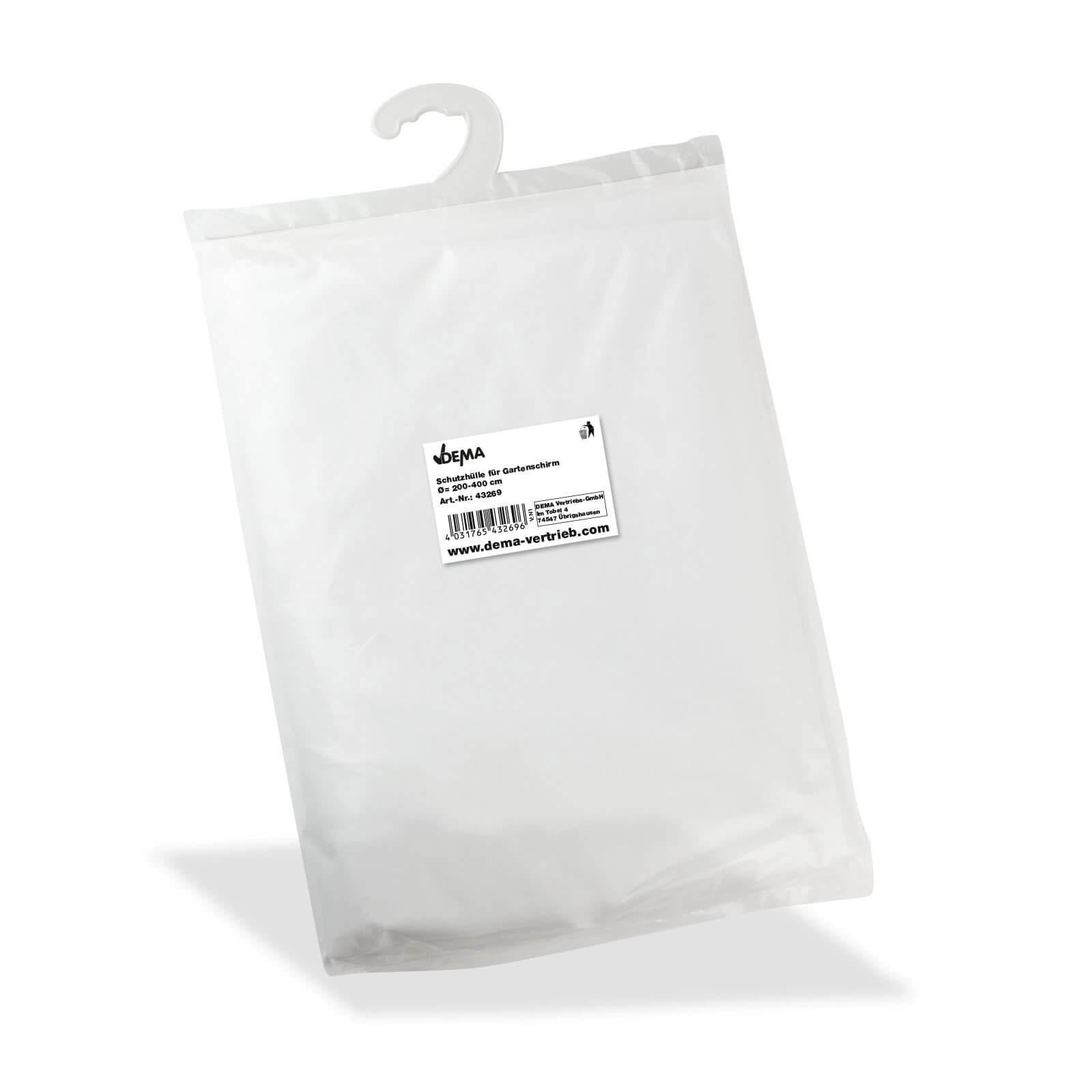 Dema Schutzhülle Abdeckung Hülle für Gartenschirm Sonnenschirm Ø = 200 - 300 cm 43269