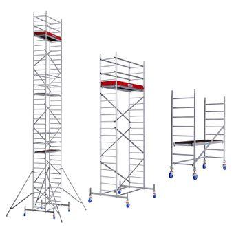 Krause ProTec Alu Fahrgerüst Arbeitshöhe 2,90m - 12,30m – Bild $_i