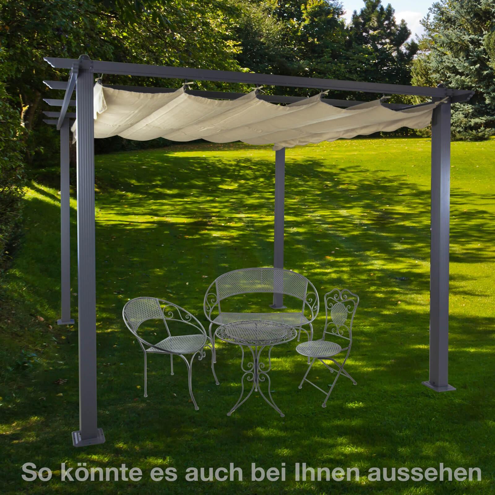 Superbe Alu Pergola / Garten Sonnenschutz Freiburg Beige