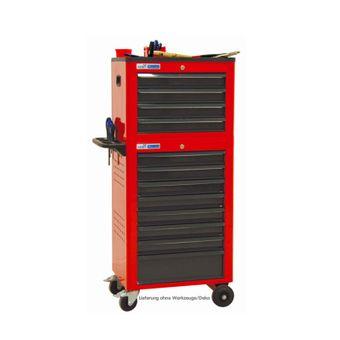 ADB Werkstattwagen Basic mit Werkzeugtruhe, 12 Schubladen rot – Bild $_i
