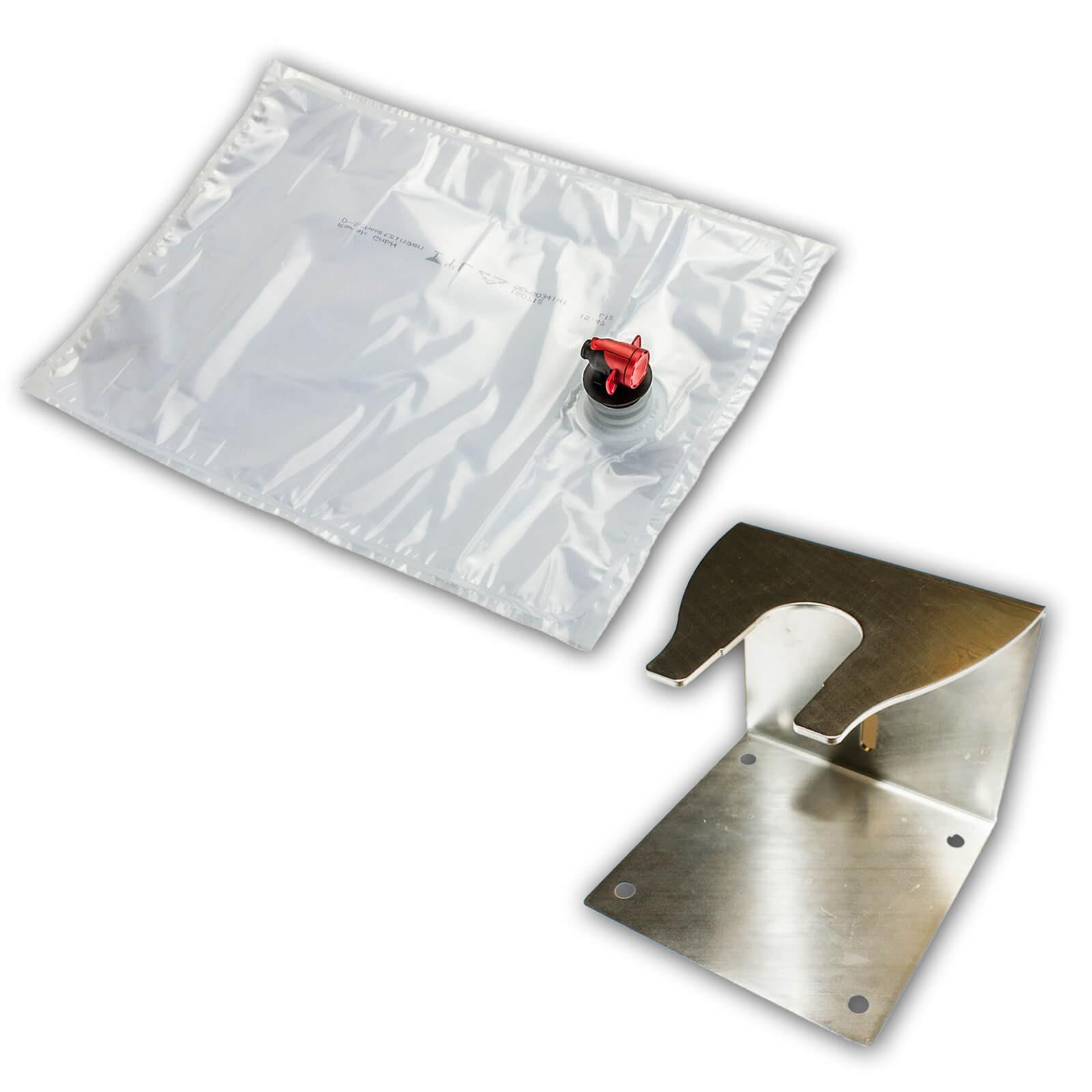 bag in box edelstahl abf llhalter f r saftbeutel 3 10 liter beutelhalter 10 cm ebay. Black Bedroom Furniture Sets. Home Design Ideas