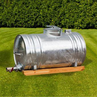 Wassertank / Wasserfass Vollmetall Feuerverzinkt 400 Liter – Bild $_i