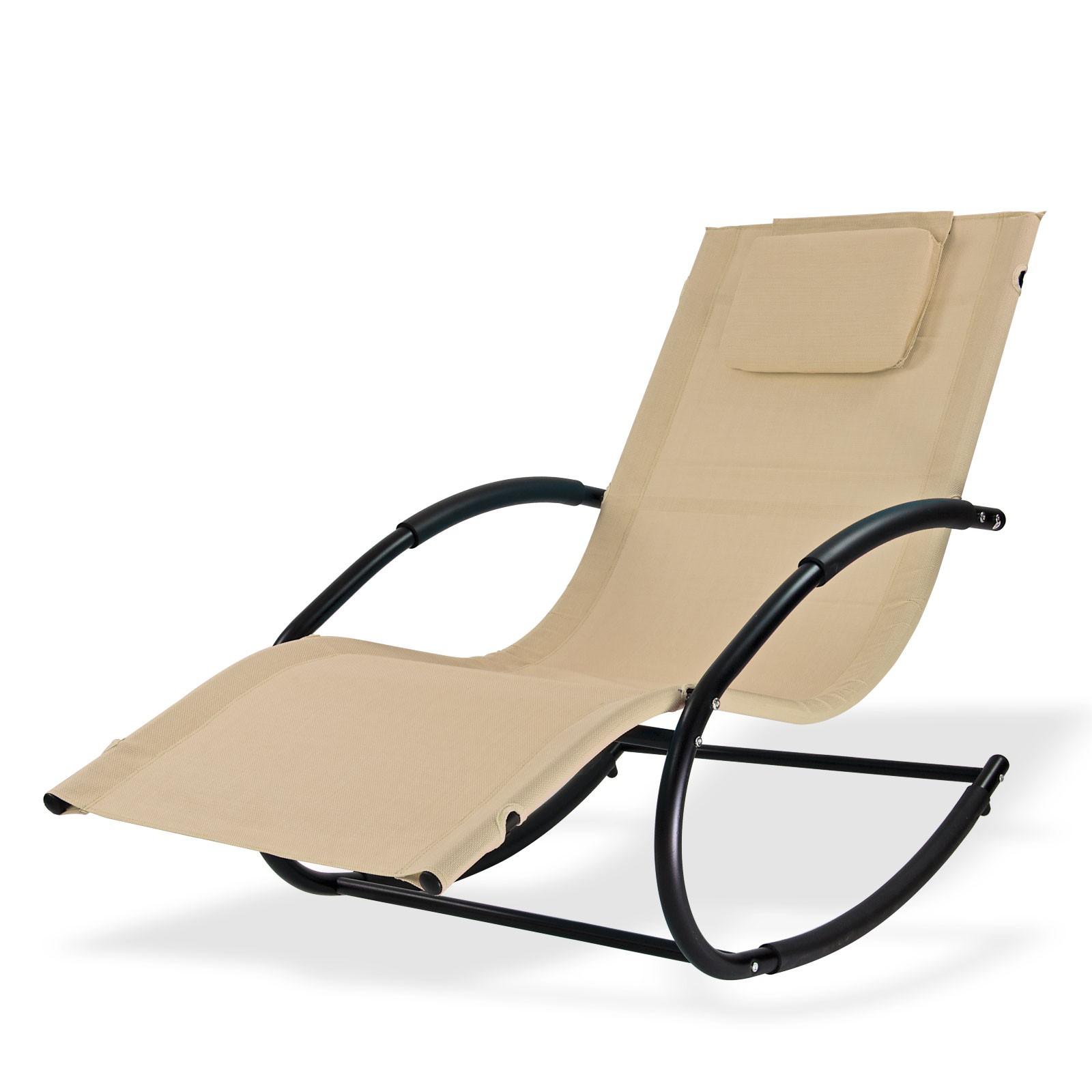 Dema Sonnenliege Relaxliege Gartenliege Liegestuhl Schaukelliege Swing Natur Liege 94085