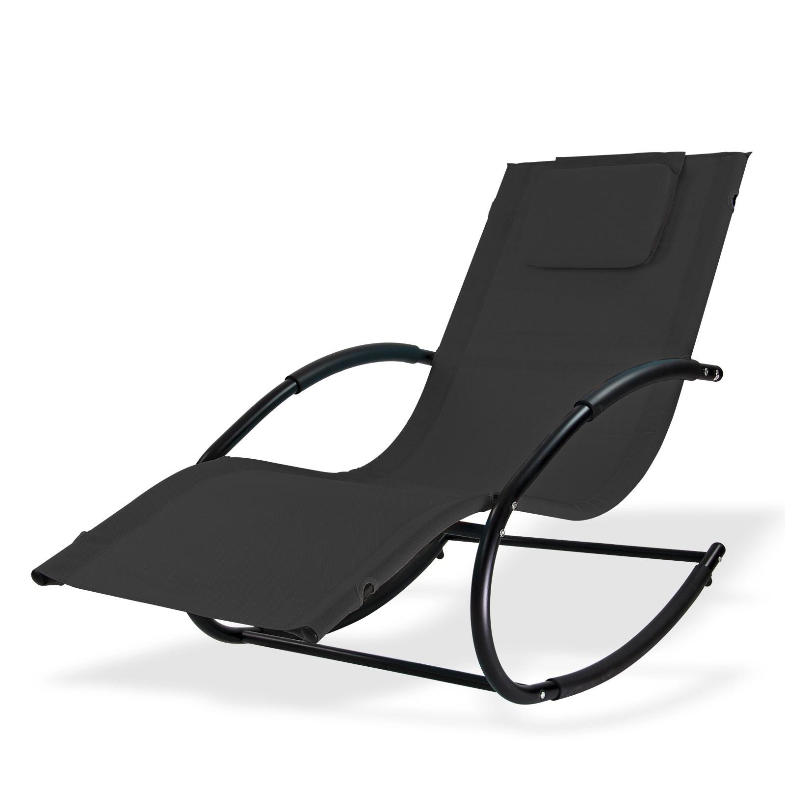 Garten Schaukelliege: Relaxliege / Sonnenliege Swing Anthrazit