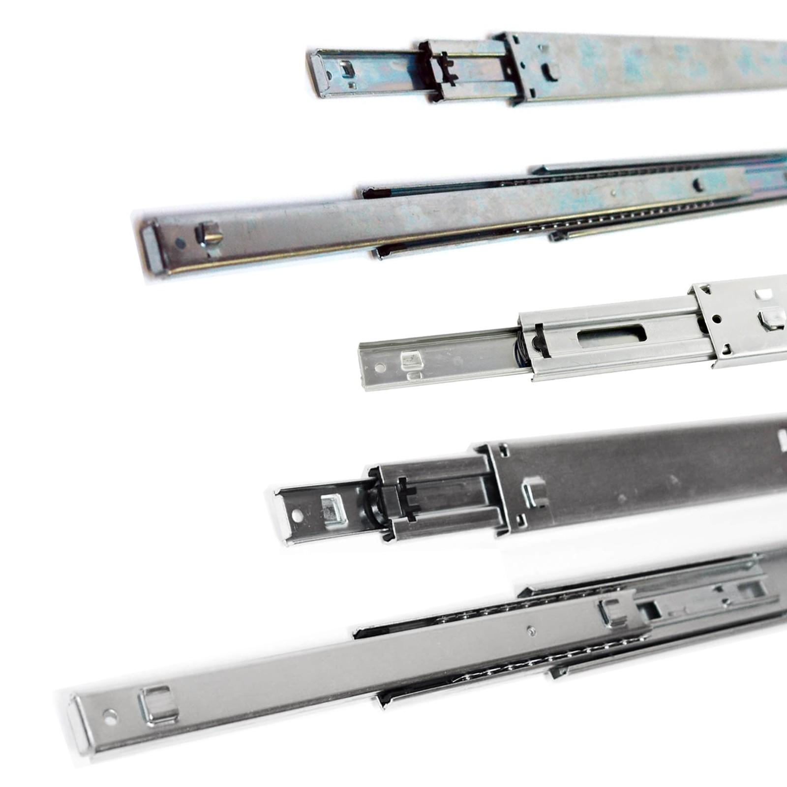 Hervorragend Teleskopschiene Schubladenschiene Vollauszug 3 stufig 250 - 550mm DV14