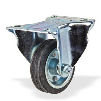 Transportrollen / Bockrollen gummiert d=85 mm bis 60 kg