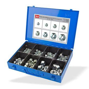 Sortimentskoffer / Sortimentskasten mit Muttern mit Feingewinde 133 Stück – Bild $_i