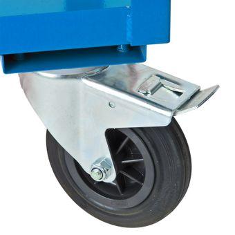 ADB Etagenwagen / Montagehilfswagen, mit 2 Etagen, Lichtblau (RAL 5012), 450kg – Bild $_i