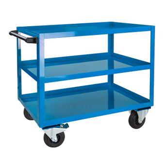 ADB 3 Etagen-Wagen / Kommisionierwagen, Blau, bis 450 kg, 1000x915x500 mm – Bild $_i