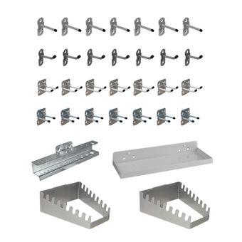 ADB Hakensatz Hakenset Werkzeug-Haken Set 12-110 teilig Lochwand Werkzeughalter – Bild $_i